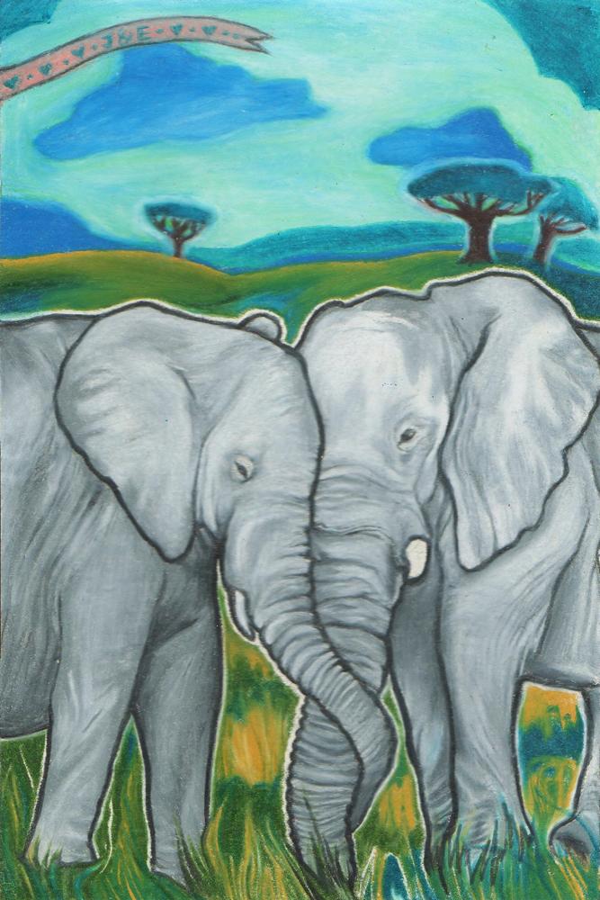 Elephant Love 171 Eva Rose Cohen Art Illustration Amp Design